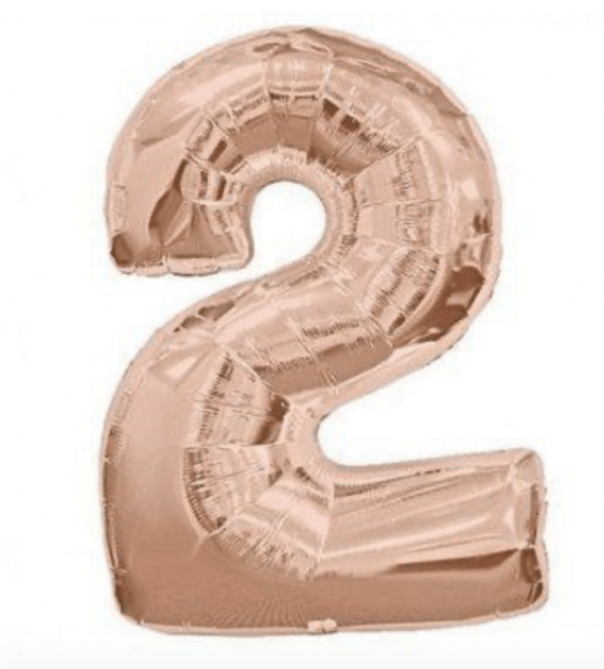 Rose Gold Number Balloon 2
