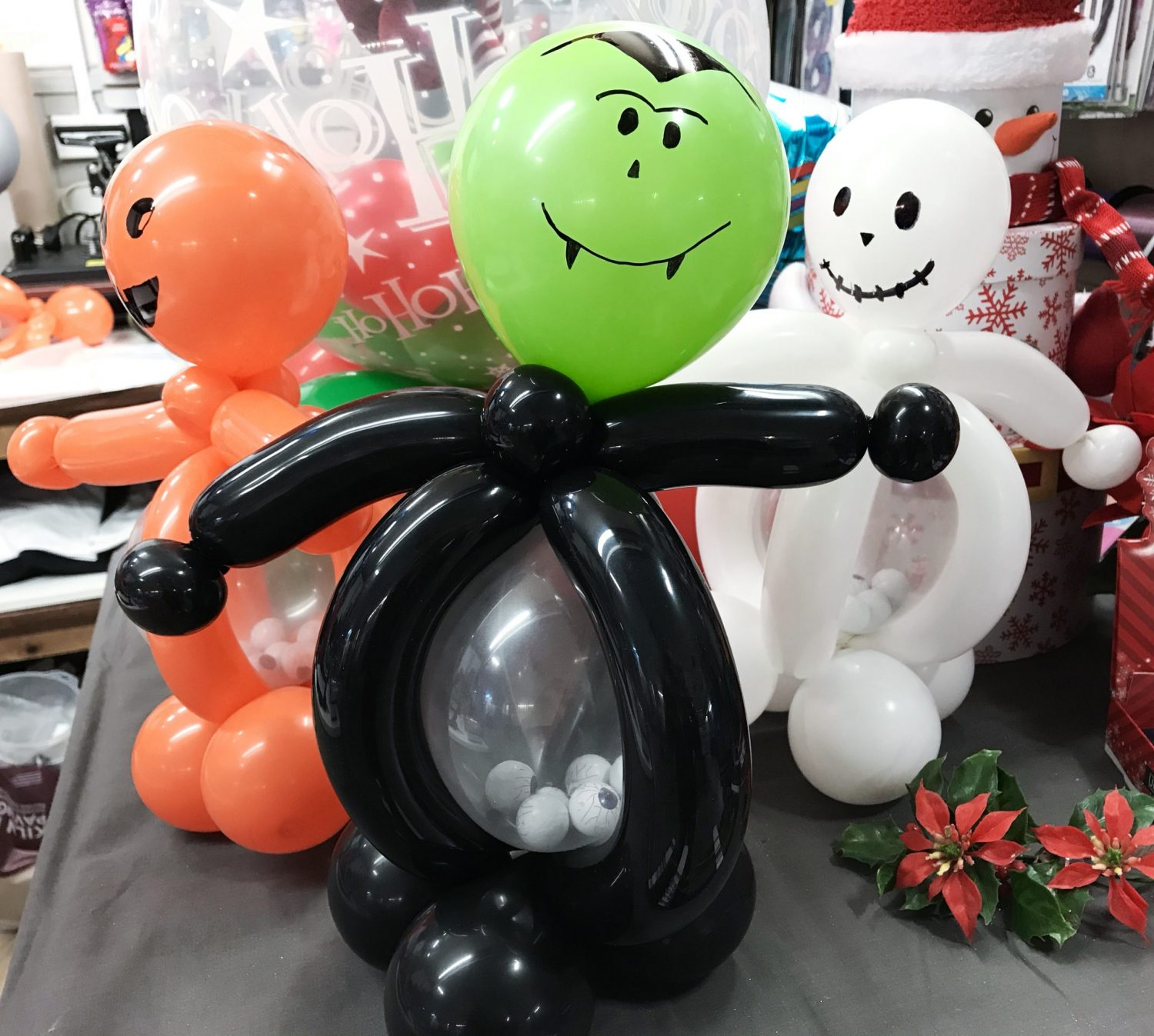 Create a spooktacular atmosphere with a Halloween Belly Buddy Stuffed Balloon